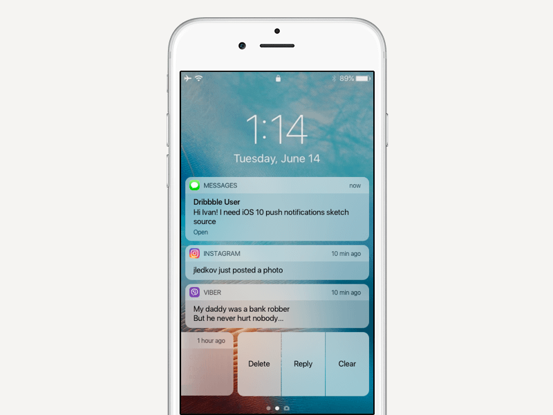 Example of Push Notification System