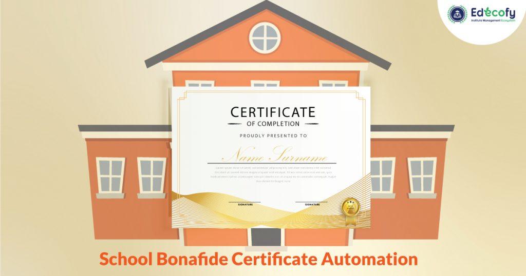 Bonafide Certificate Generation System